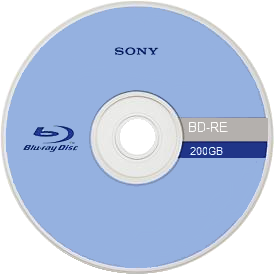 Blu Ray or Streaming: Front side of a 200GB Blu-ray Disc