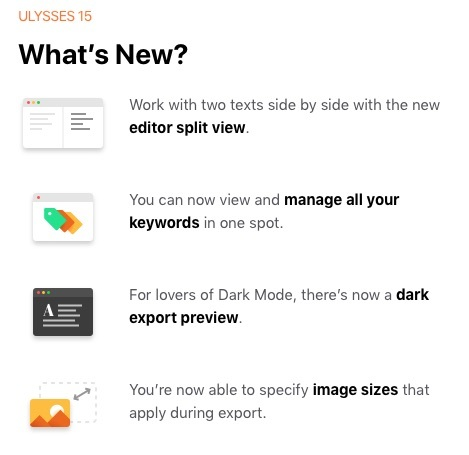 Ulysses App Update - What's new?